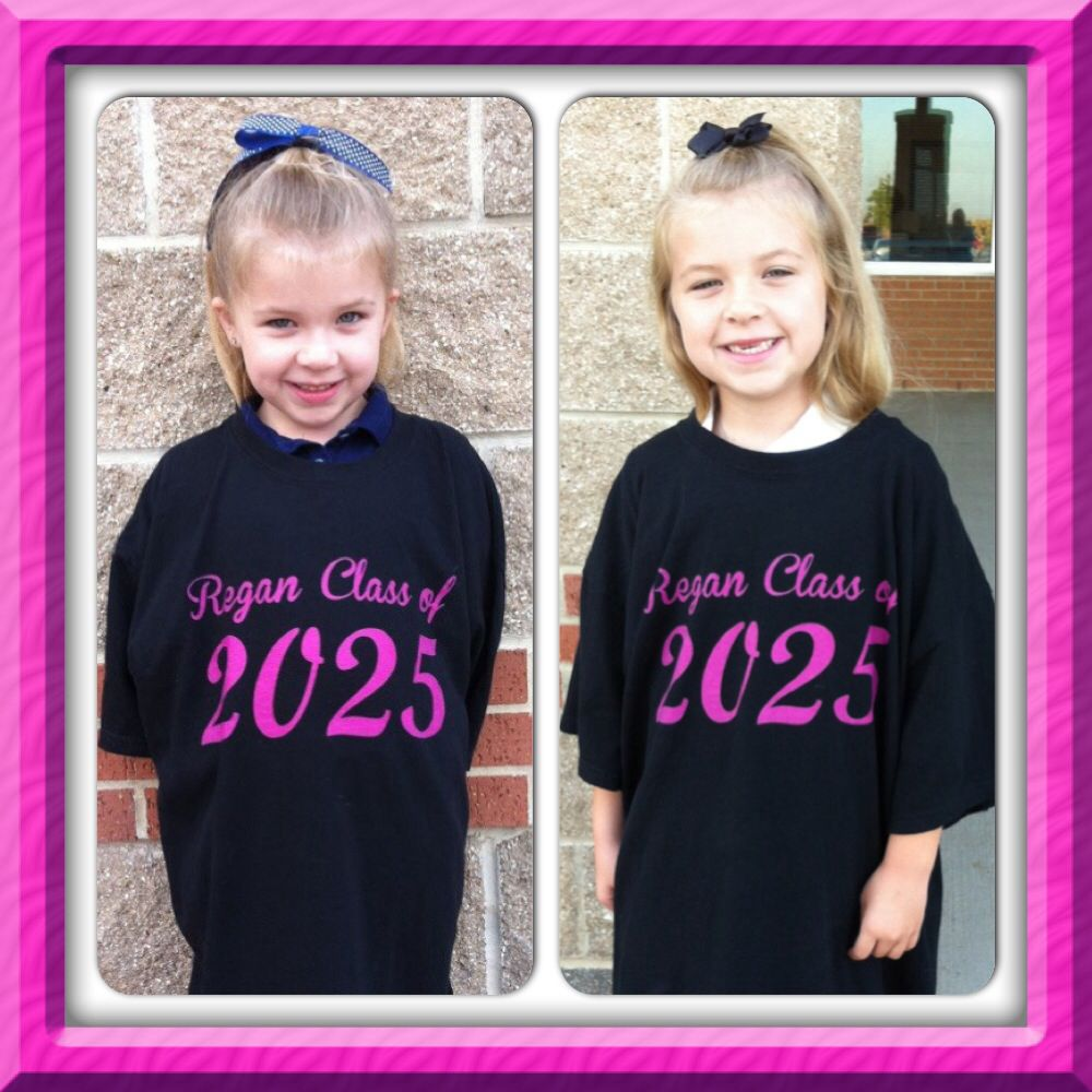 Regan Wearing Her Class Of 2025 Shirt On The First Day Of