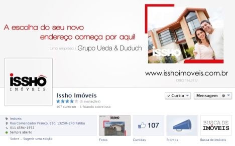 Layouts Para Facebook Imobiliaria Issho Imoveis Com Imagens
