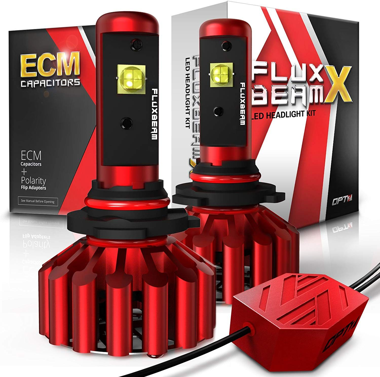 Opt7 Fluxbeam X 9005 Led Headlight High Beam Bulbs 8 400lm 6000k Daytime White All Bulb Size High Beam Led Headlights Bulb