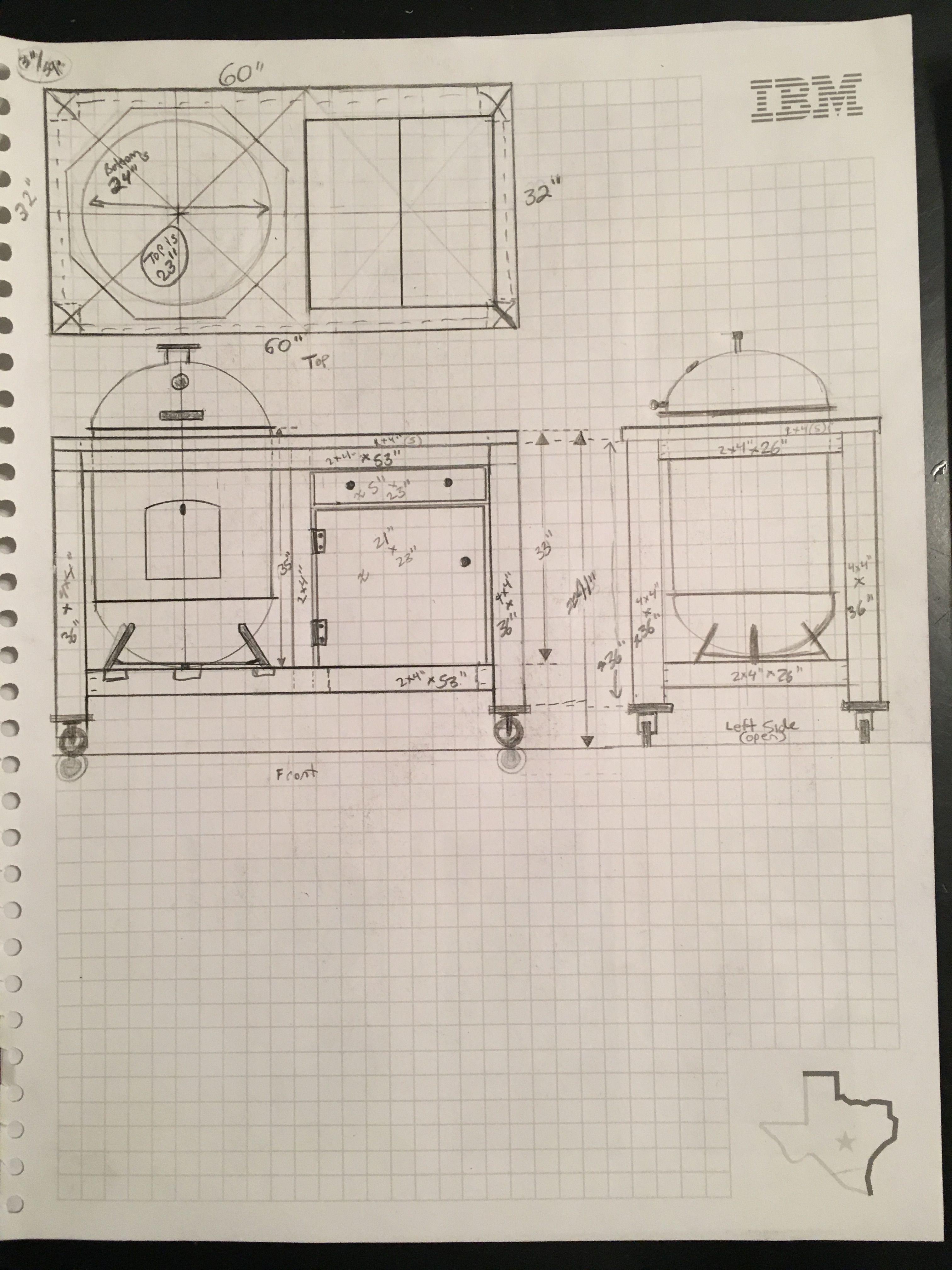 original plan for my custom cedar cart for my 22 weber. Black Bedroom Furniture Sets. Home Design Ideas