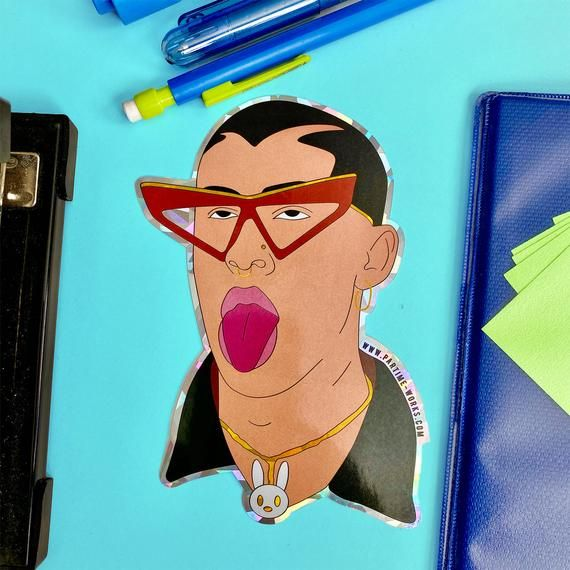 Bad Bunny Holographic Sticker #badbunny
