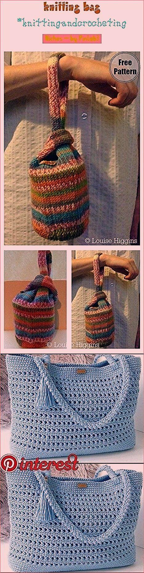 #knitting #bag knitting bag #knittingandcrocheting #diy ...