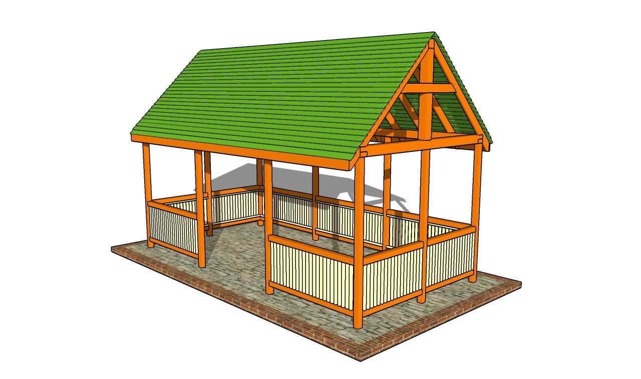 12×14 Picnic shelter plans – HowToSpecialist – How to Build, Step ...