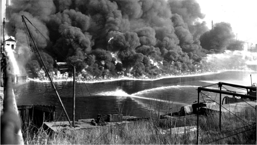 cuyahoga river burning 1969 | Following the Cuyahoga River fire of 1969 and Love Canal in the mid ...