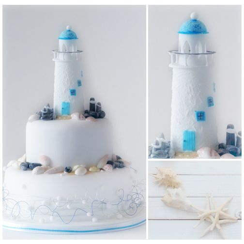 Lighthouse Cake Topper For Your Romantic Beach Wedding
