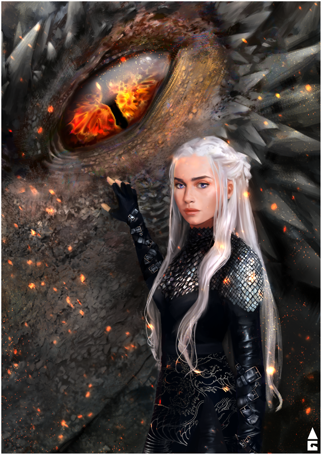 Game of thrones fanart  GoT, asoiaf, Daenerys Targaryen