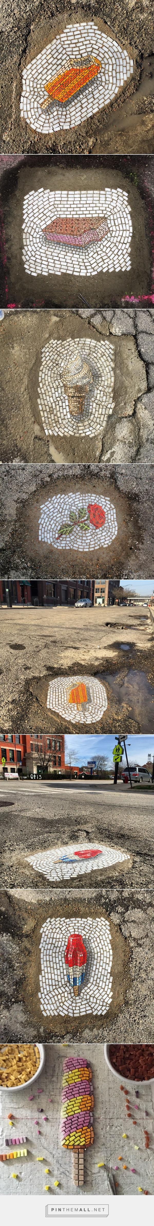 potholes street art by Jim Bachor | Inspirowani Naturą