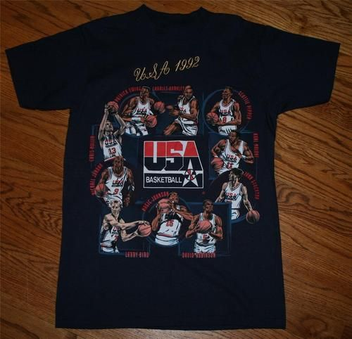 6637e139b8892f New Vintage 1992 USA OLYMPIC DREAM TEAM BASKETBALL T-SHIRT-M-Jordan  Barkley Bird