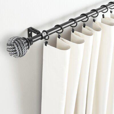 Longshore Tides Caiden Single Curtain Rod Hardware Set Size 120
