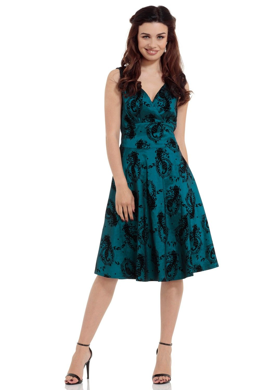 Voodoo Vixen Vintage Inspired Khloe Grey 40s Style: Vintage Inspired Dresses, Retro Style