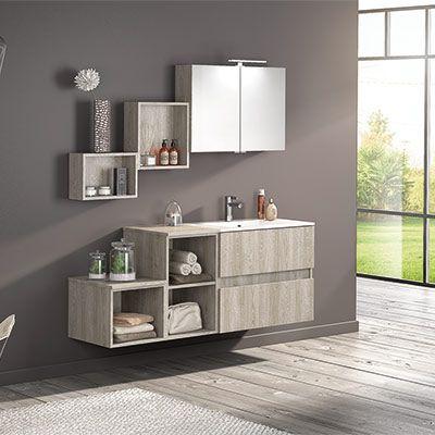 stunning meuble salle de bain gris clair bois gallery amazing - Salle De Bain Bois Et Gris