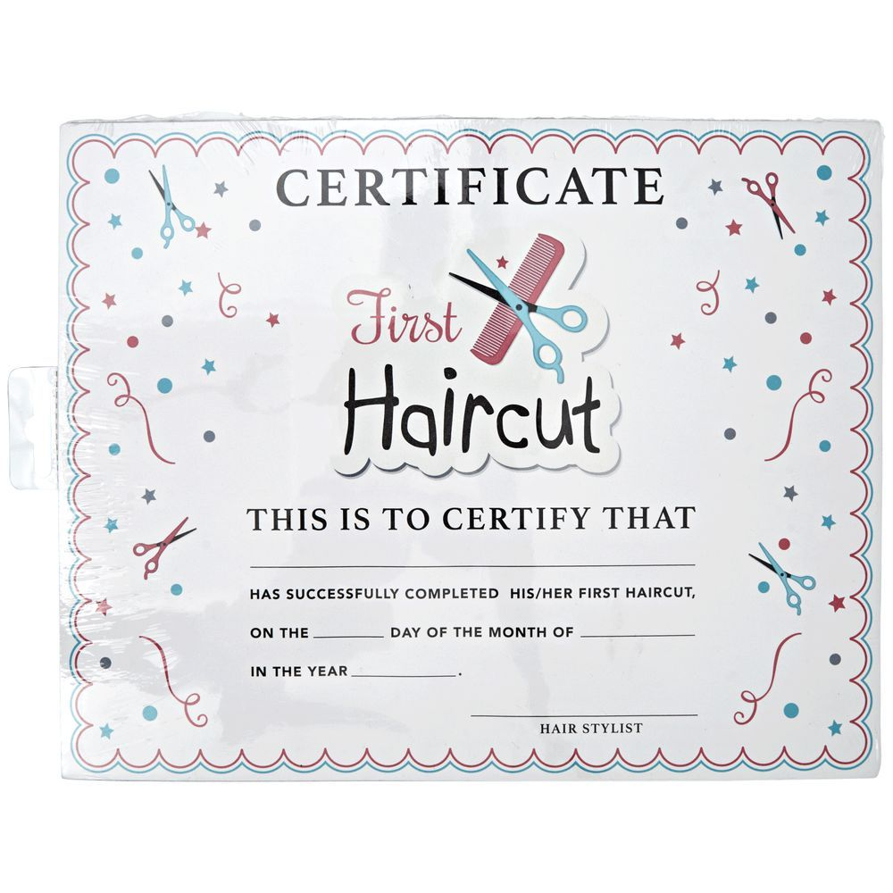 My First Haircut Certificate First Haircut Baby Boy First Haircut Baby Haircut