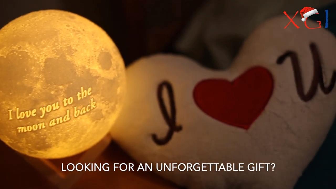 Kundenspezifische Mondlampe Customized Moon Lamp Fuhle Die Magie Liebe Ist Viel Einfacher Zu Beken In 2020 Anniversary Gifts Unforgettable Gift Custom Print