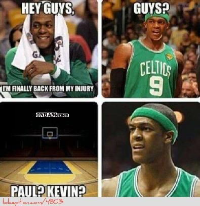 Rajon Rondo S Return To The Court Nba Funny Nba Memes Funny Basketball Memes