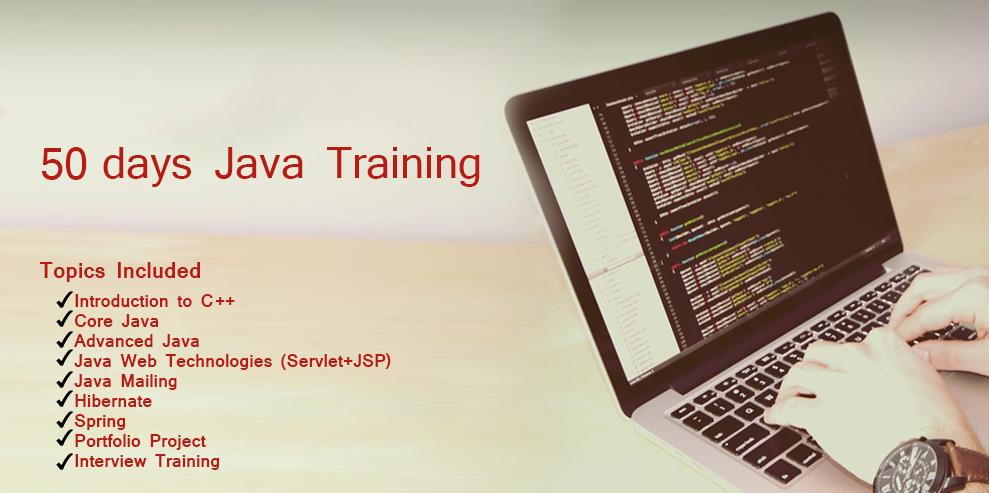 50 Days Java Training Program is a Job oriented best Java