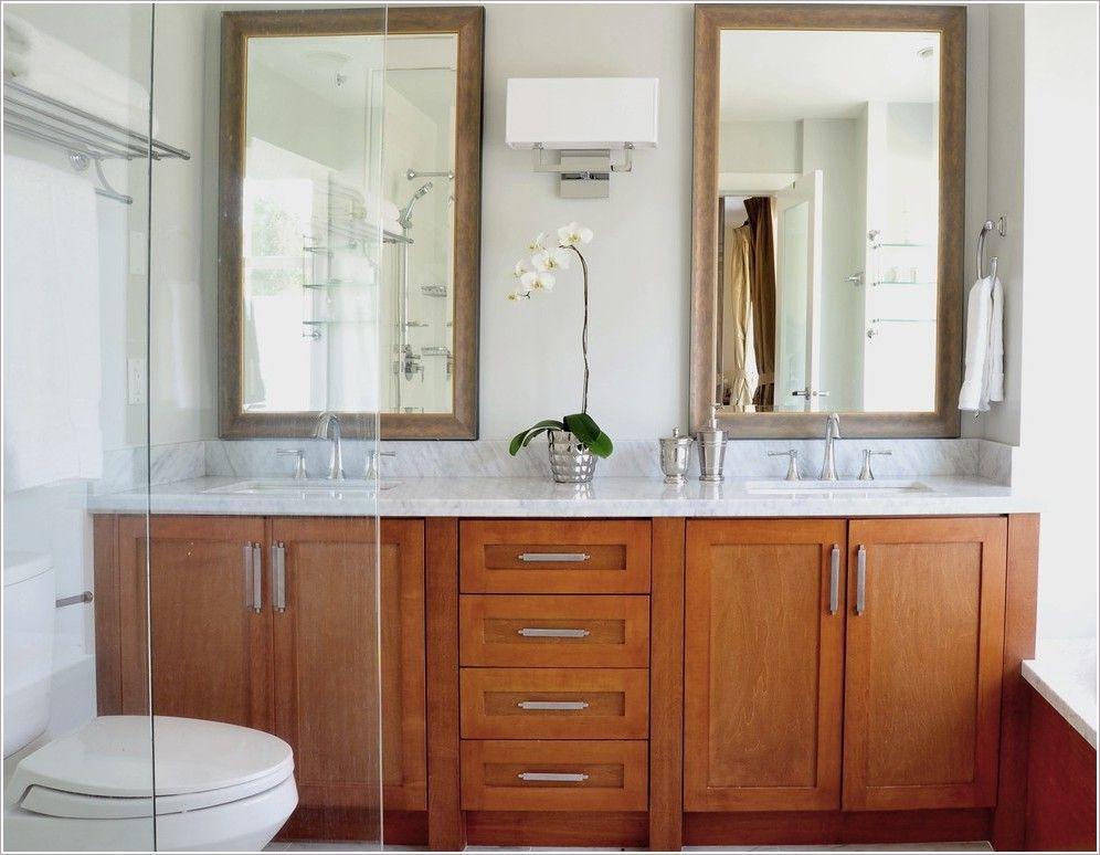 Two Mirrors One Light Master Bathroom Makeover Amazing Bathrooms Bathroom