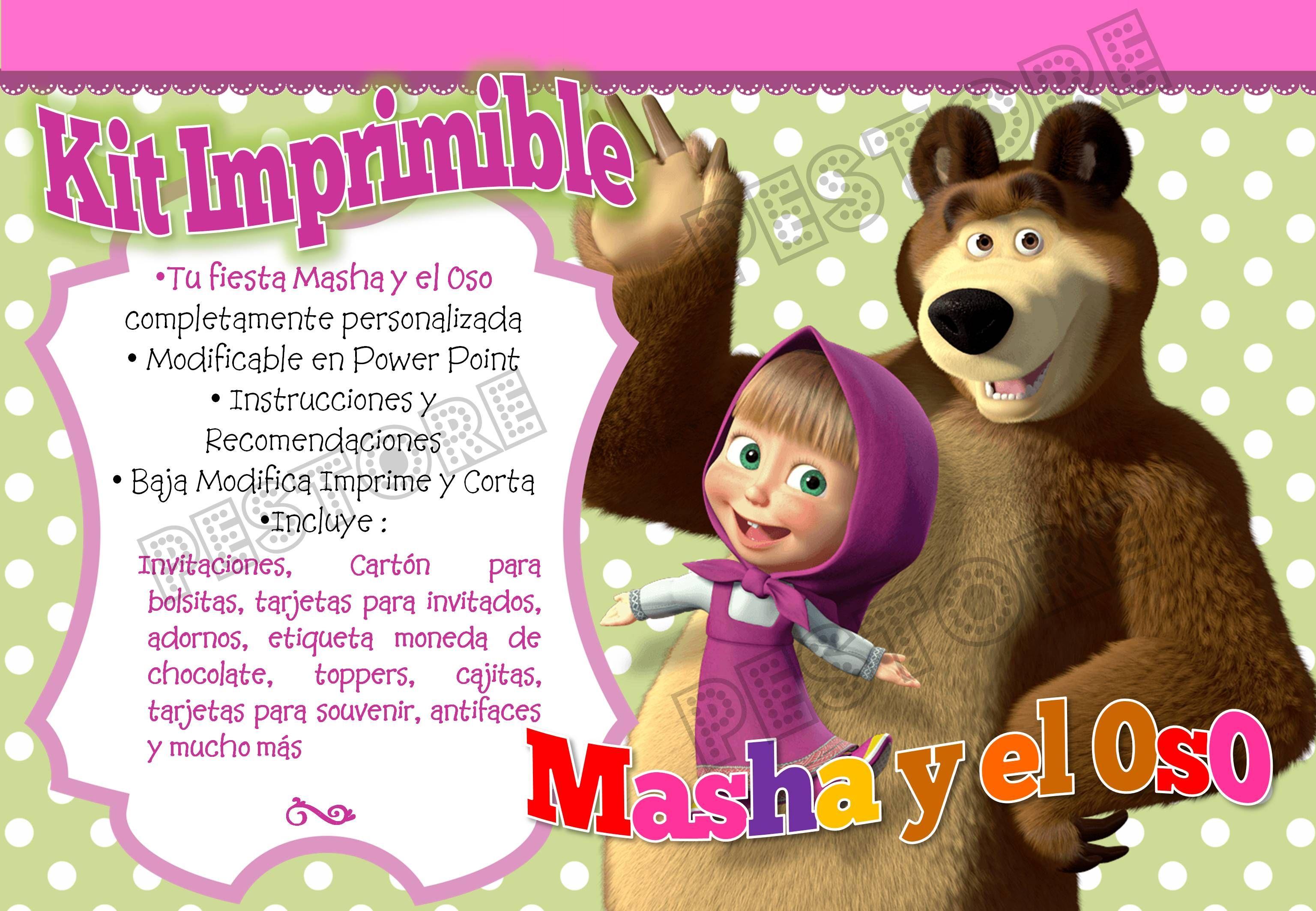 Masha Y El Oso Cumpleaños Buscar Con Google Masha Y El
