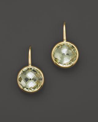 Green Amethyst Small Drop Earrings In 14k Yellow Gold Bloomingdale S
