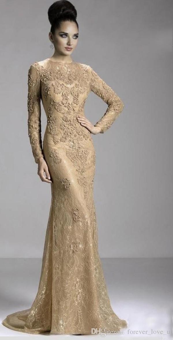 Arab Dresses Elegant Long Sleeve