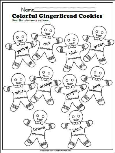 Color Words Gingerbread Cookies | Hombre de jengibre, Adornos ...