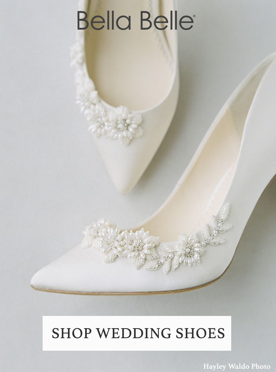 Ivory Beaded Wedding Pumps