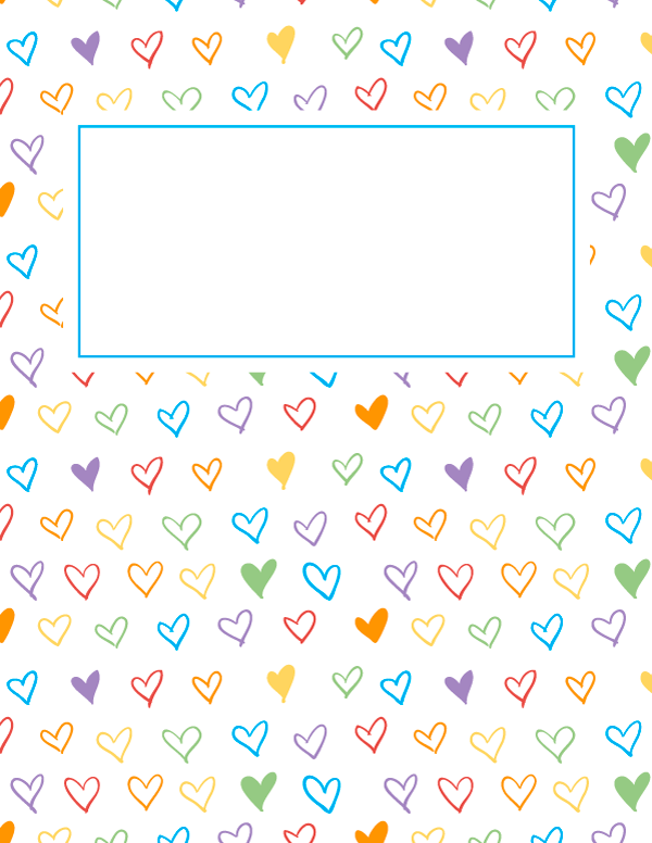 Free Printable Rainbow Heart Binder Cover Template Download The Cover In Jpg Or Pdf Format At Htt Binder Cover Templates Binder Covers Printable Binder Covers
