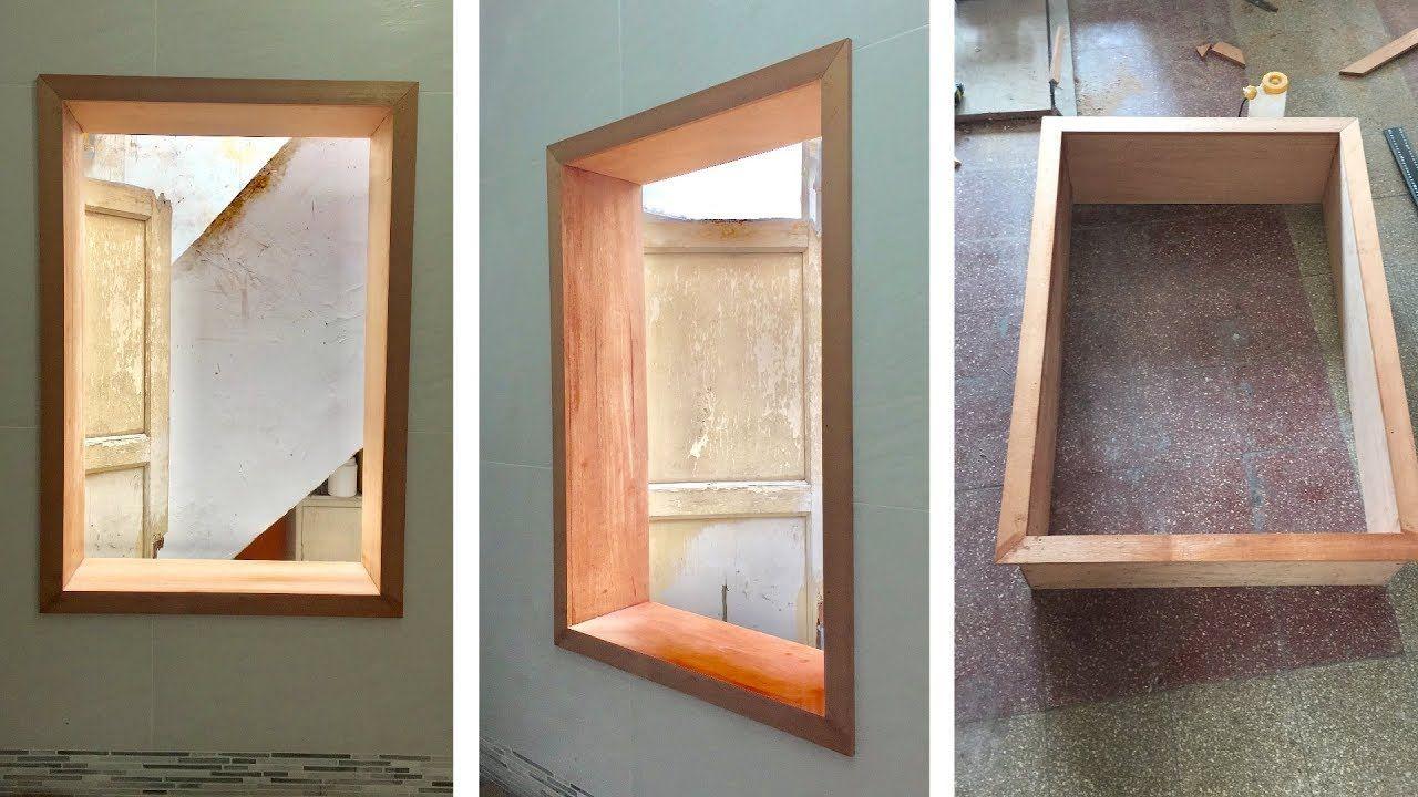 Cómo hacer un marco de madera para una ventana | muebles reciclados ...