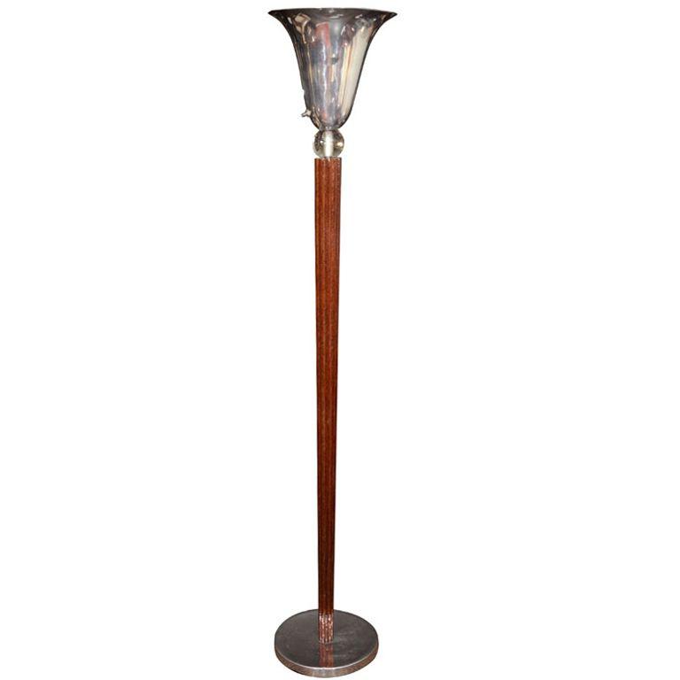 Machine Age Art Deco Torchiere Floor Lamp Torchiere Floor Lamp