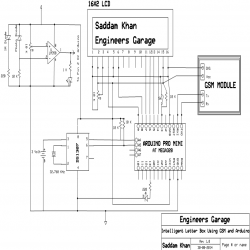 Circuit Diagram To Built Intelligent Letter Box Using Arduino And Gsm Arduino Lettering Letter Box