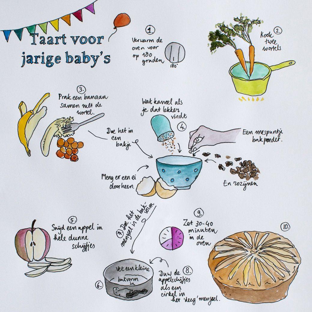 Infographic: recept gezonde taart voor baby's
