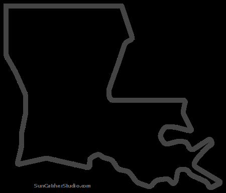 Louisiana Map Outline Printable State Shape Stencil Pattern Louisiana Map Map Outline Louisiana