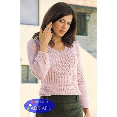 Queen Pullover in Adriafil Jumping - Downloadable PDF. Discover more patterns by Adriafil at LoveKnitting. We stock patterns, yarn, needles and books from all of your favourite brands.