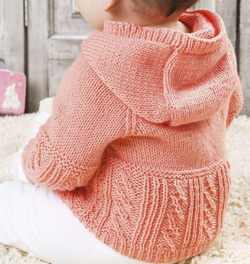 Baby hooded jumper knitting pattern | Jumper knitting ...