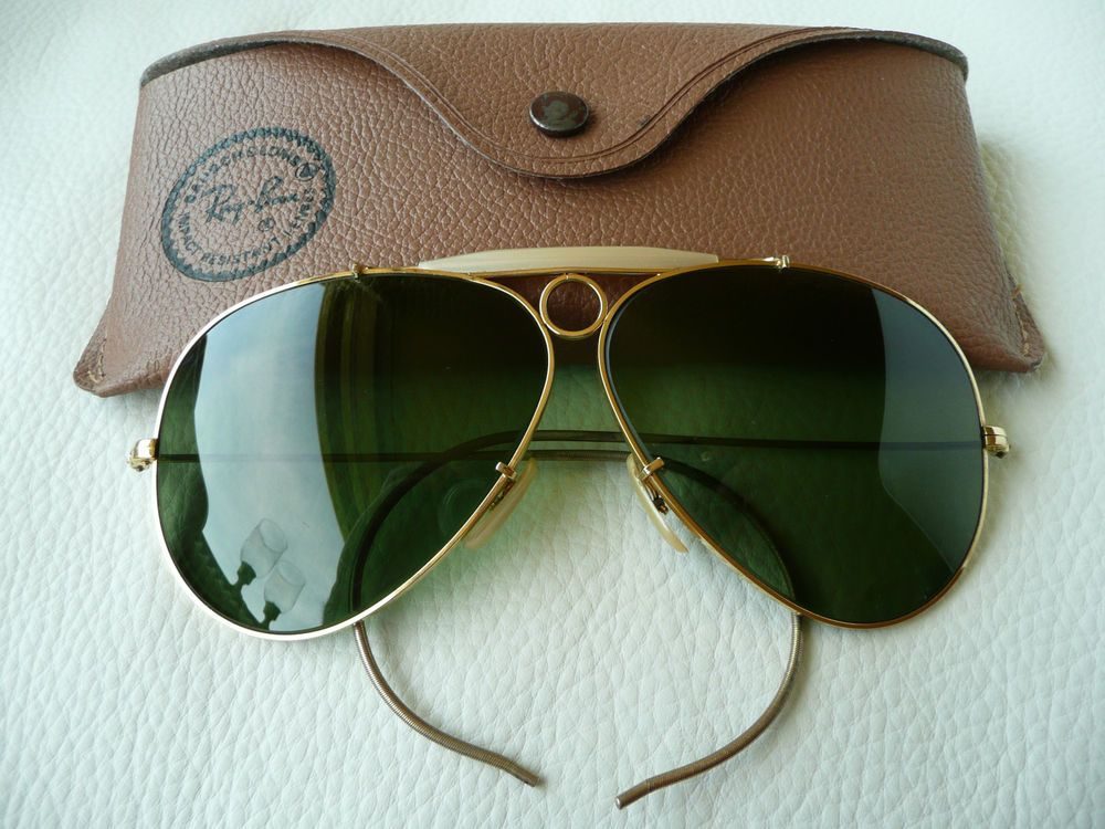 c36d37cf6768e Original   Vintage 70  s   Ray Ban B L   Aviator Shooter  62 MM  Sunglasses
