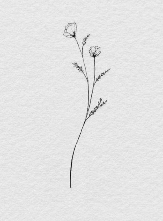 Hervorragende Ideen für winzige Tätowierungen finden Sie auf unseren Webseiten. Ich wünsche …  Bullet journal #flowertattoos – flower tattoos