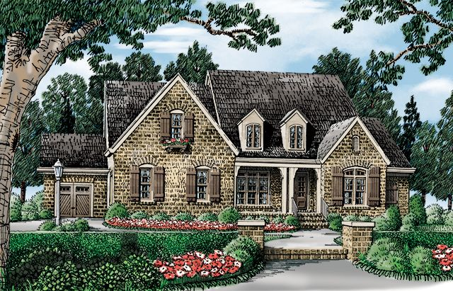 Front Elevation Rendering Country Cottage House Plans French Country House Plans House Plan Gallery