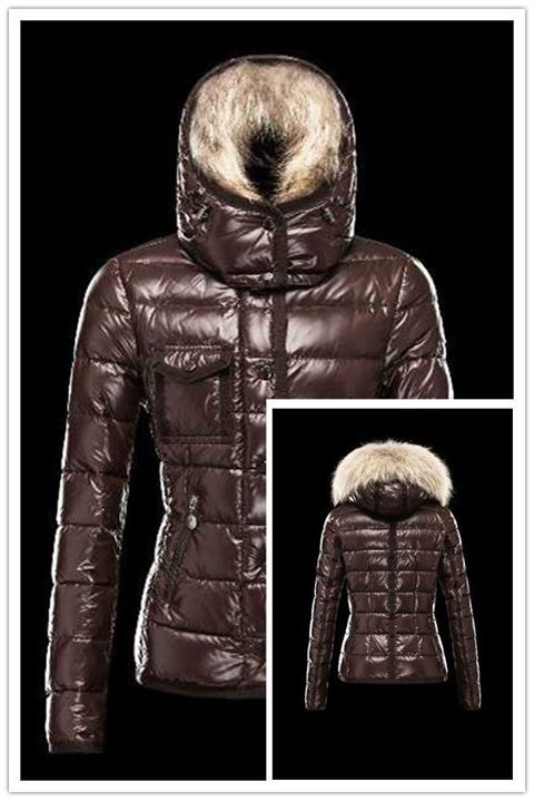 4e8972e7d Hot Sell Moncler Armoise Down Jackets For Women Brown Shop Online ...