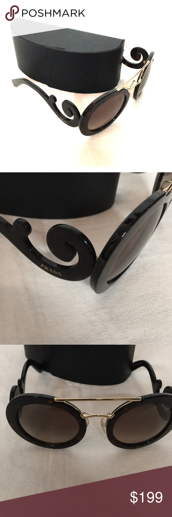 dc6d617cb41a3 Prada Tortoise Baroque Sunglasses Condition  EUC Brand  Prada Size   Measurements Make Offers💕💕 Feel free to ask questions!🎉🎊🎉 Prada  Accessories ...