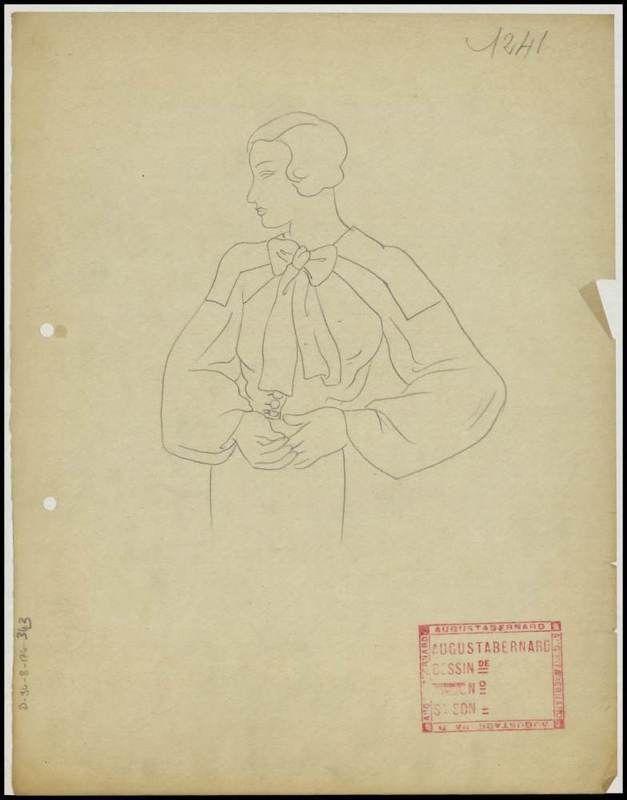 Création Augusta Bernard , maison de couture, 1931-1932 Muguette - dessiner une maison en 3d