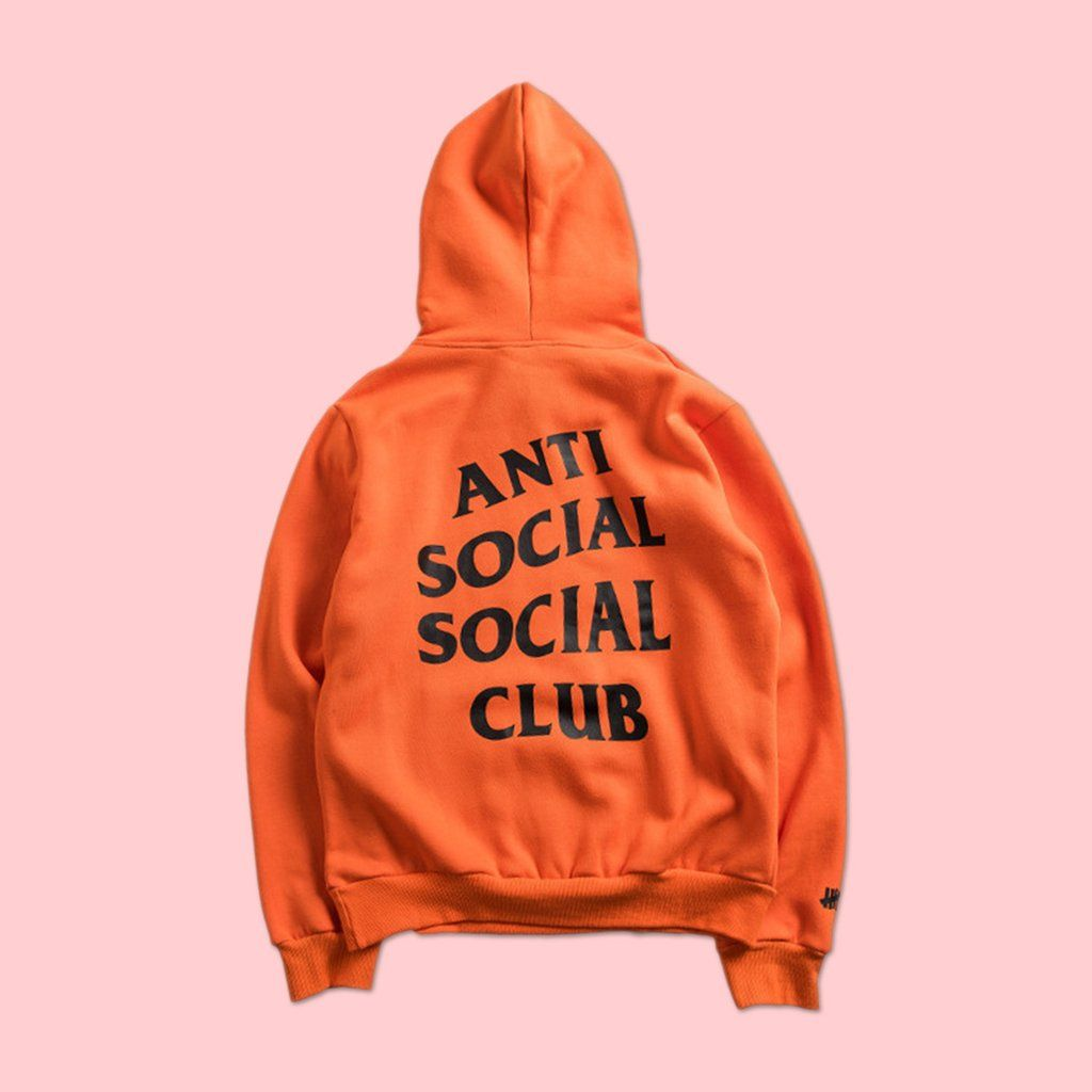e96176012d085 ANTI SOCIAL SOCIAL CLUB x UNDEFEATED PARANOID HOODIE ORANGE (LIMITED STOCK)   snap  travel  art  backpack  kawaii  cute  japan  jfashion  streetfashion   pale ...