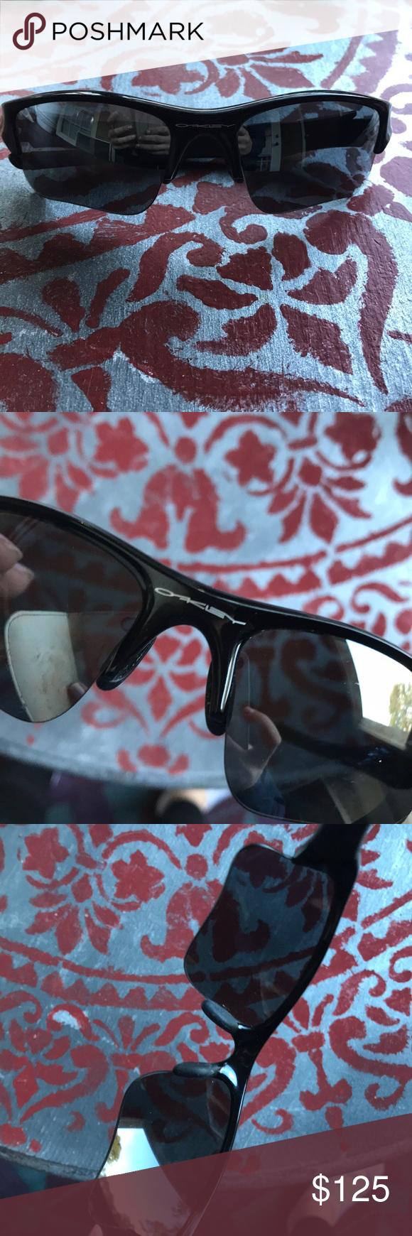 Oakley Flak Jacket Black Frame Rainbow Lens