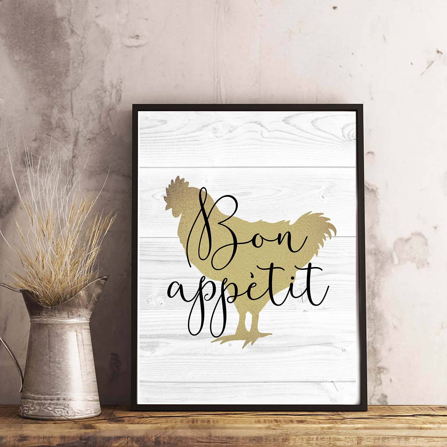 Quot Bon Appetit Chicken Quot Kitchen Printable Home Decor