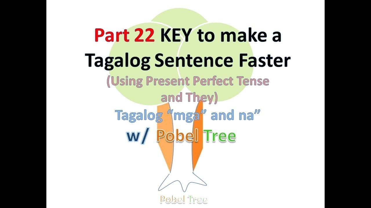 Part 22 Tagalog Sentence Using Present Perfect Tense They
