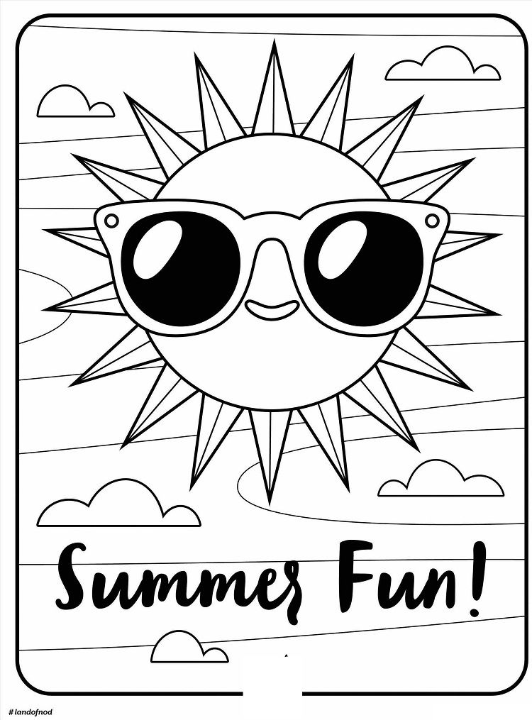 41++ Cute summer free printable coloring pages ideas