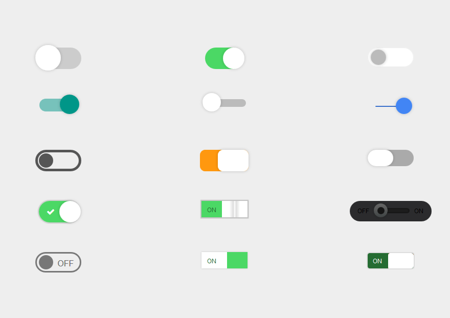 Toggle Buttons | Web elements | Toggle button, Ui buttons