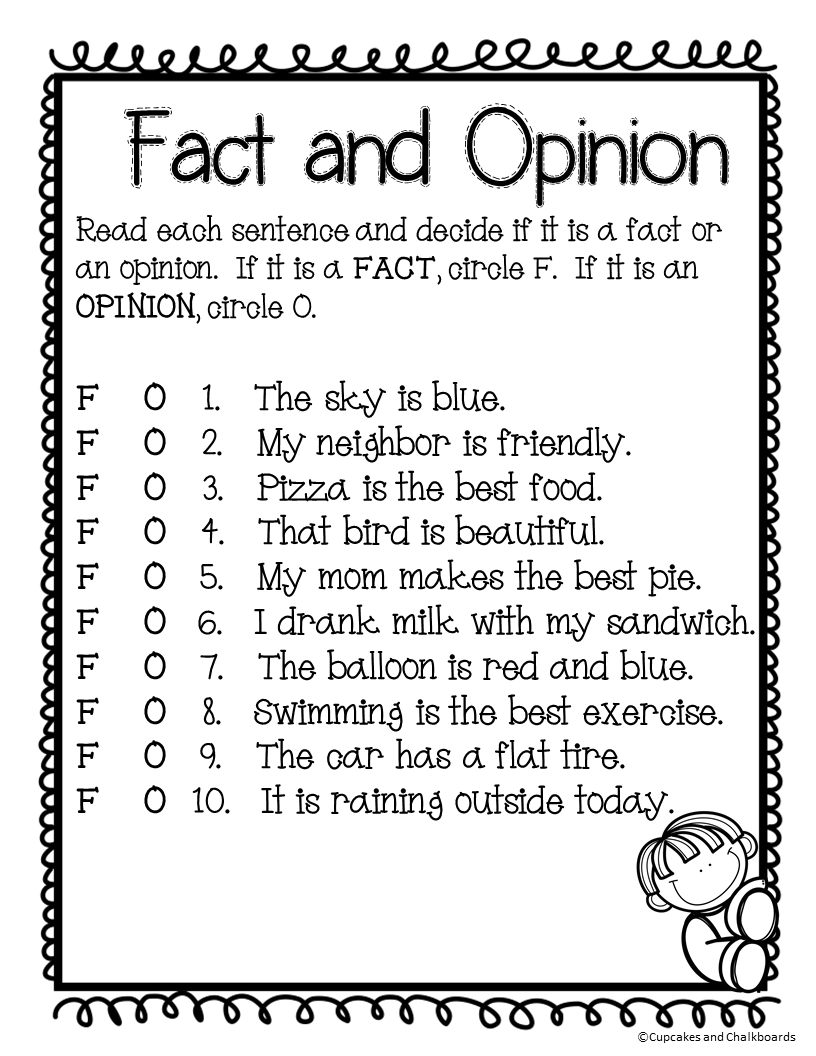 medium resolution of Fact And Opinion Worksheets