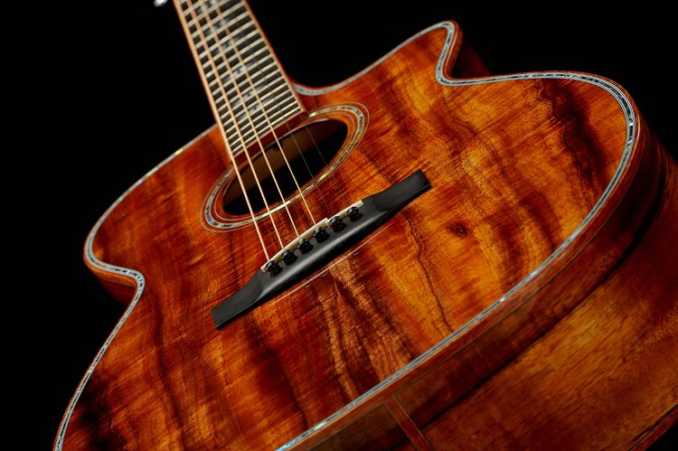 Koa Acoustic Guitars By Prestige Guitars Designed Conceived And Based Out Of Vancouver Bc Canada All Inlay Work Is Artist Guitar Acoustic Acoustic Guitar