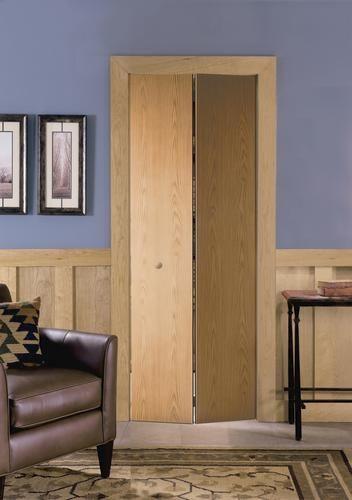 Mastercraft 24 X 80 Prefinished Flush Wheat Oak 2 Leaf Bifold Door