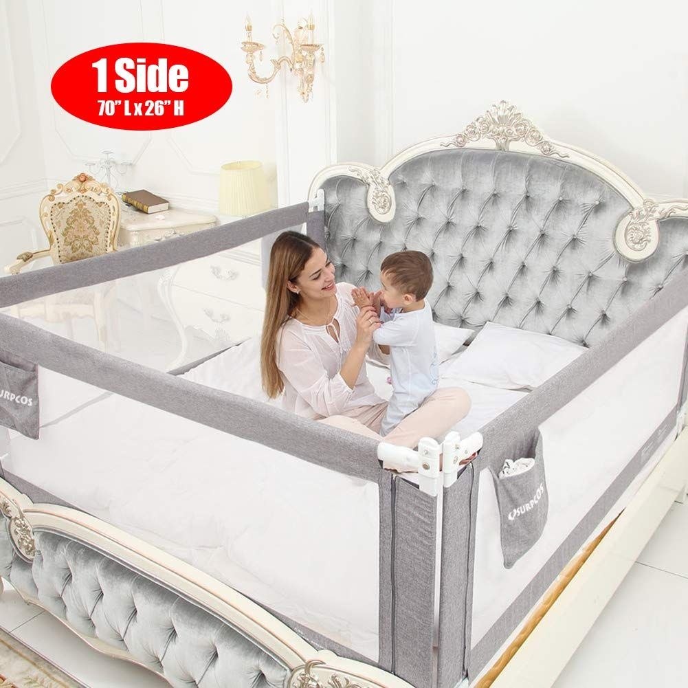 SURPCOS 70 Bed Rails for Toddlers Extra Long Baby Bed Rail