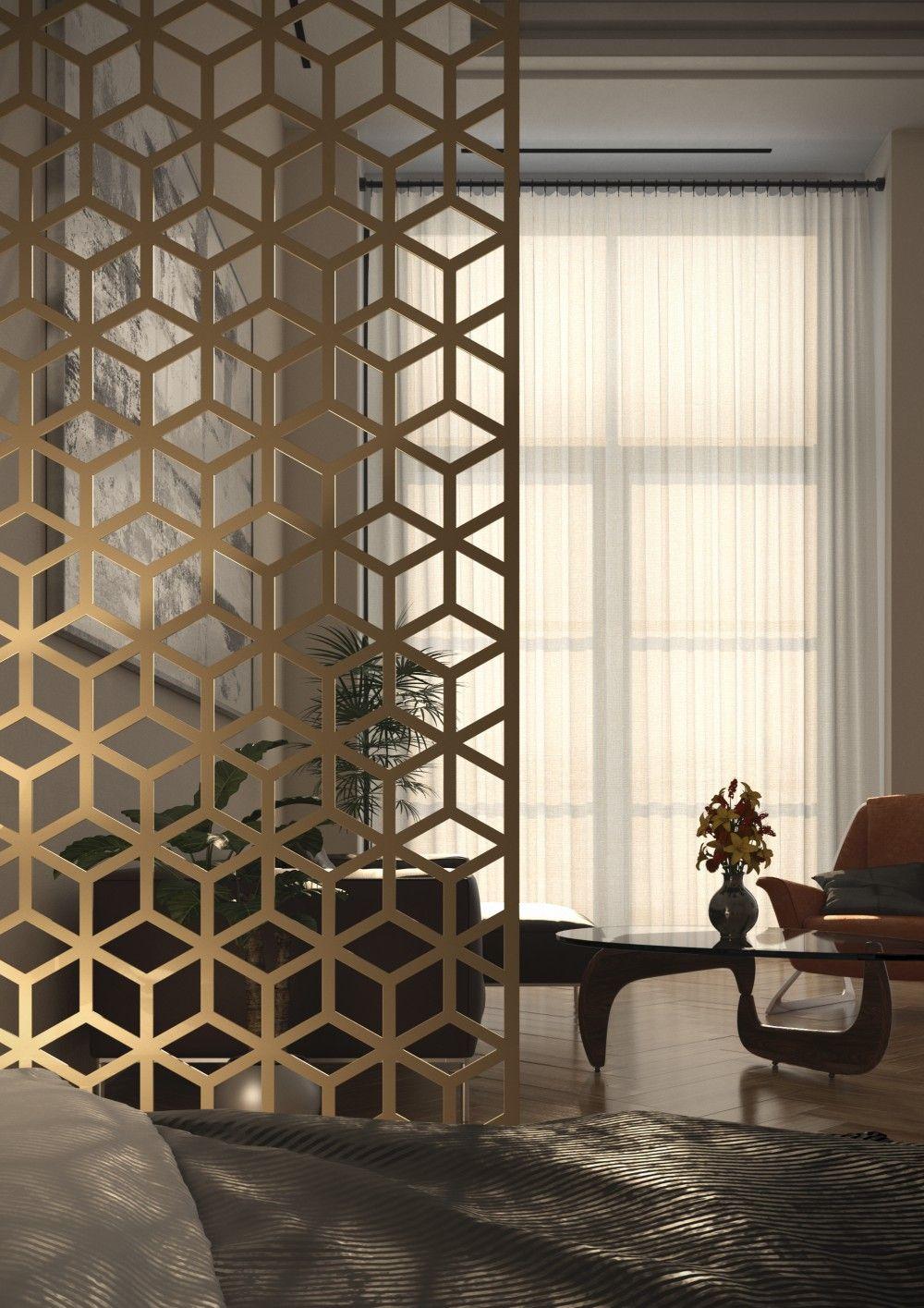 Elegant Mashrabiya Decorative Screen As A Room Divider